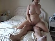 My wifes naughty pal finds me playing with my trouser snake