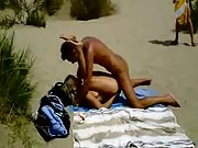 Lucky hidden cam films wild amateurs having beach sex