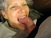 Very mature wifey with my nads in her mouth