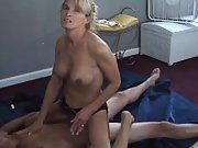 Naughty cuckold wife riding a stranger's firm hard on