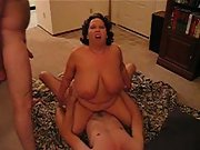 Crazy hubby shares his fat wife with a coworker