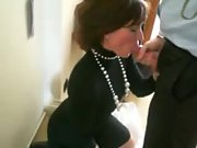 Wife providing head before the thanksgiving meal